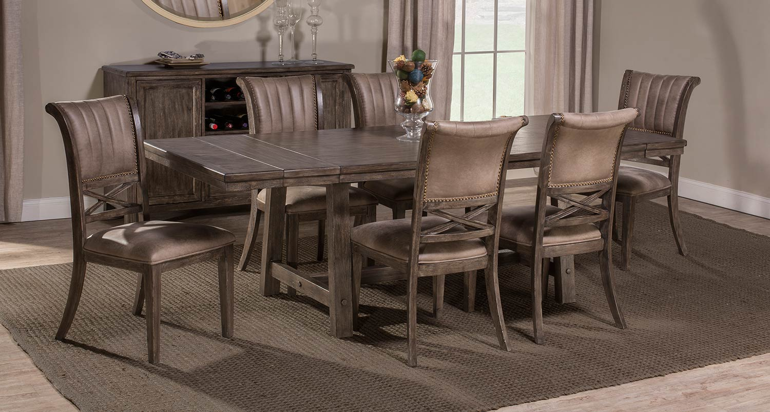 Hillsdale Legacy 7 Piece Dining Set   Dark Grey