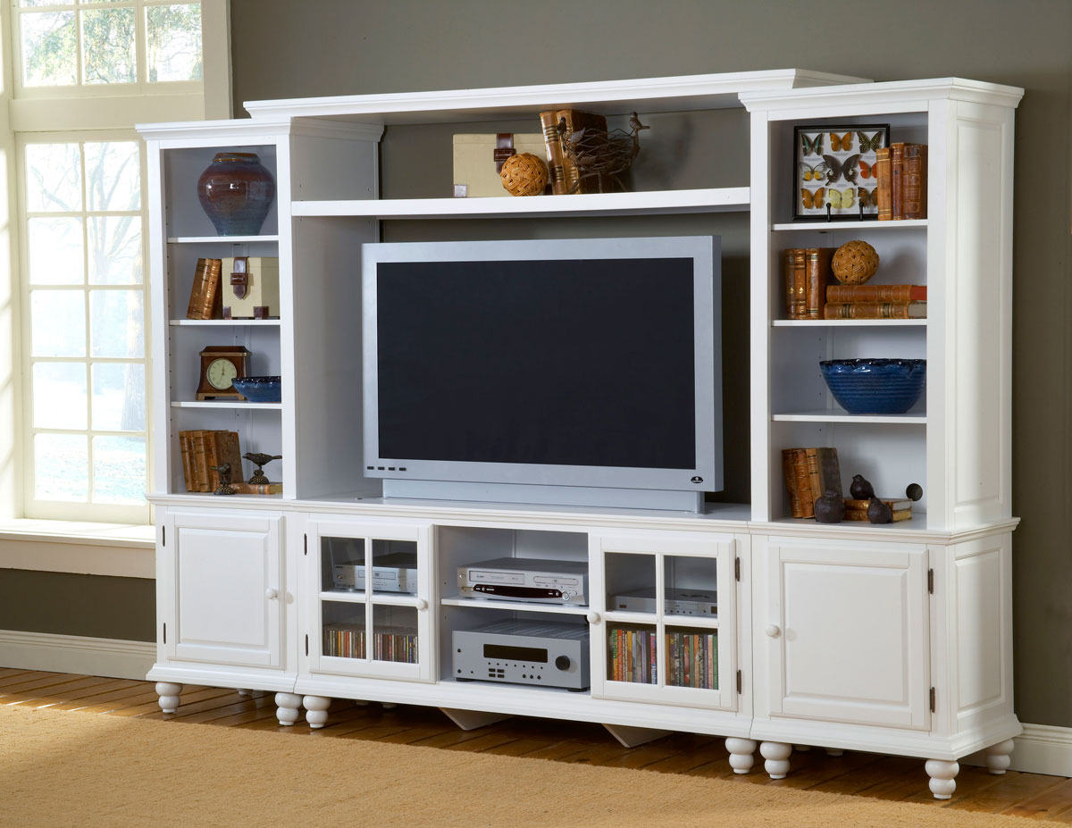 Hillsdale Grand Bay Large Entertainment Wall Unit White