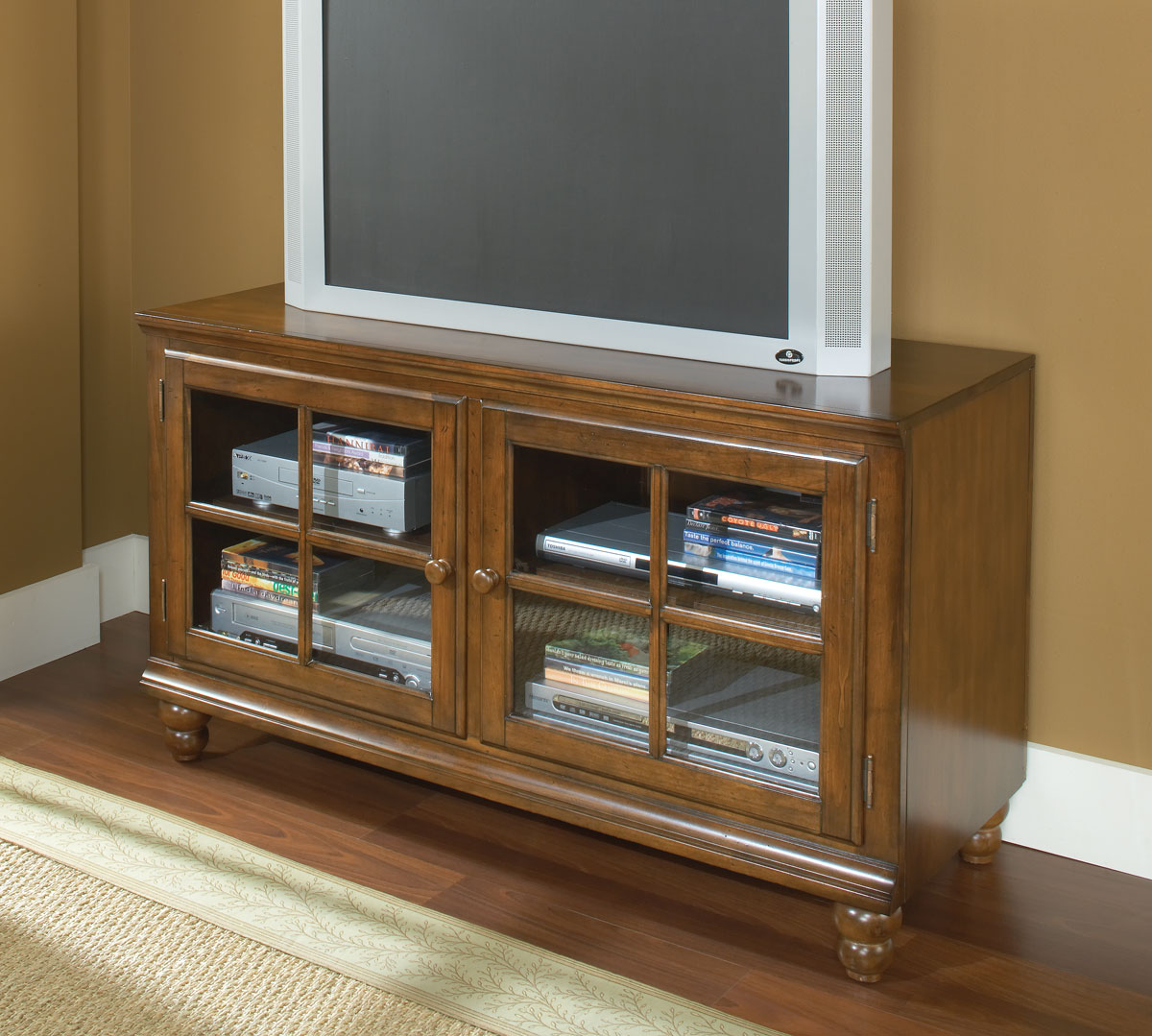Hillsdale Grand Bay 48in Entertainment Console - Warm Brown