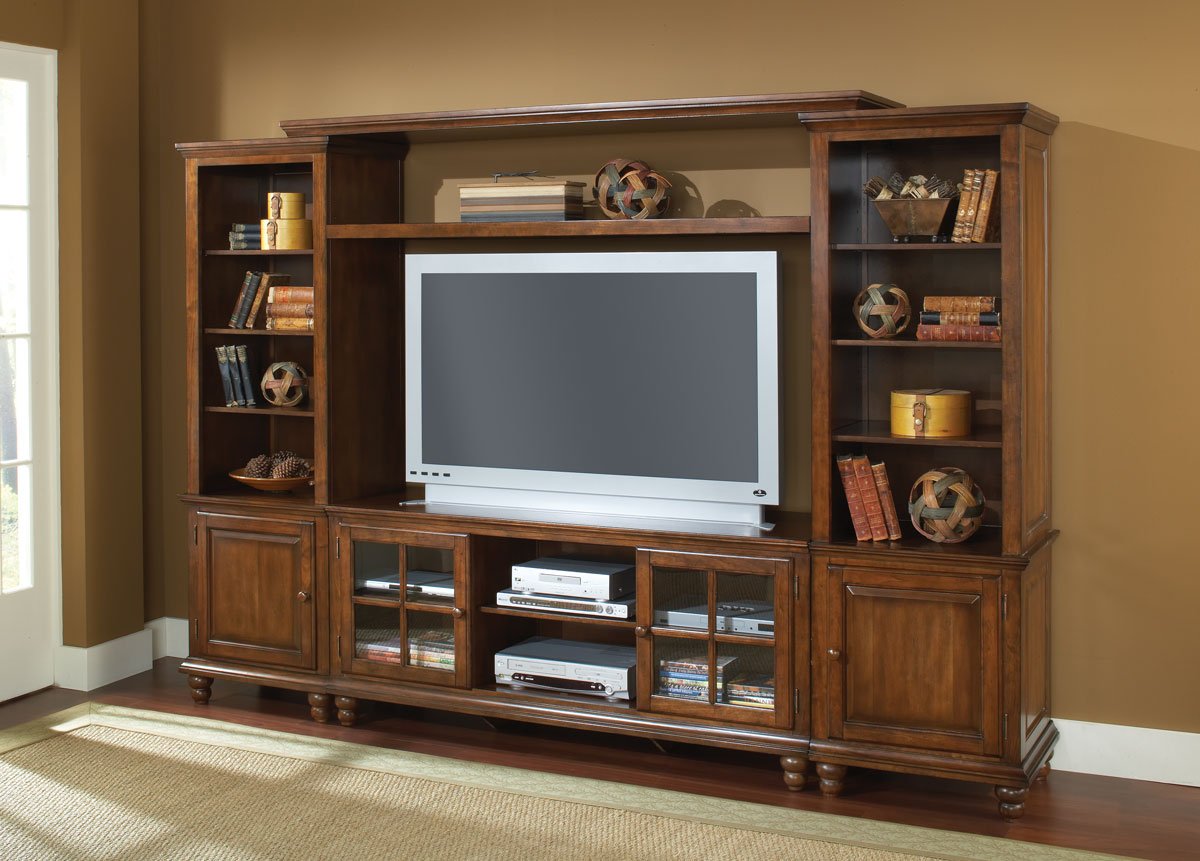 Hillsdale Grand Bay Large Entertainment Wall Unit Warm