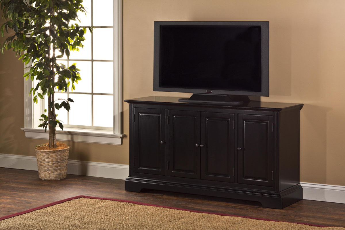 Hillsdale Maison Four Door Entertainment Console - Black