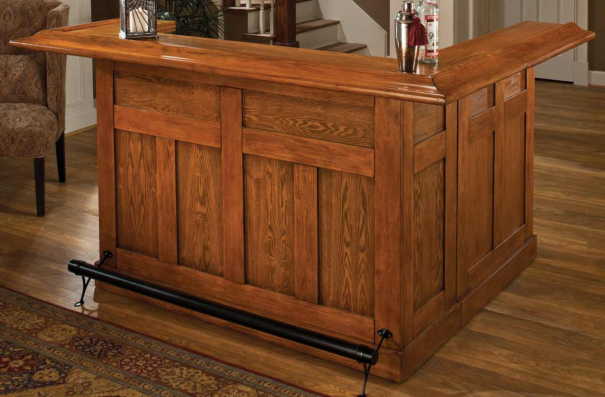 Hillsdale Classic Oak Large Bar with Side