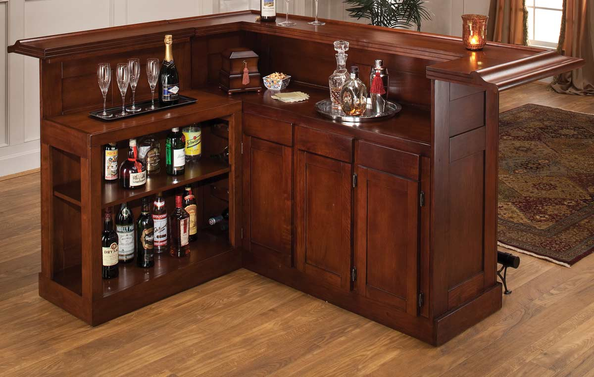 Hillsdale Classic Cherry Large Bar with Side