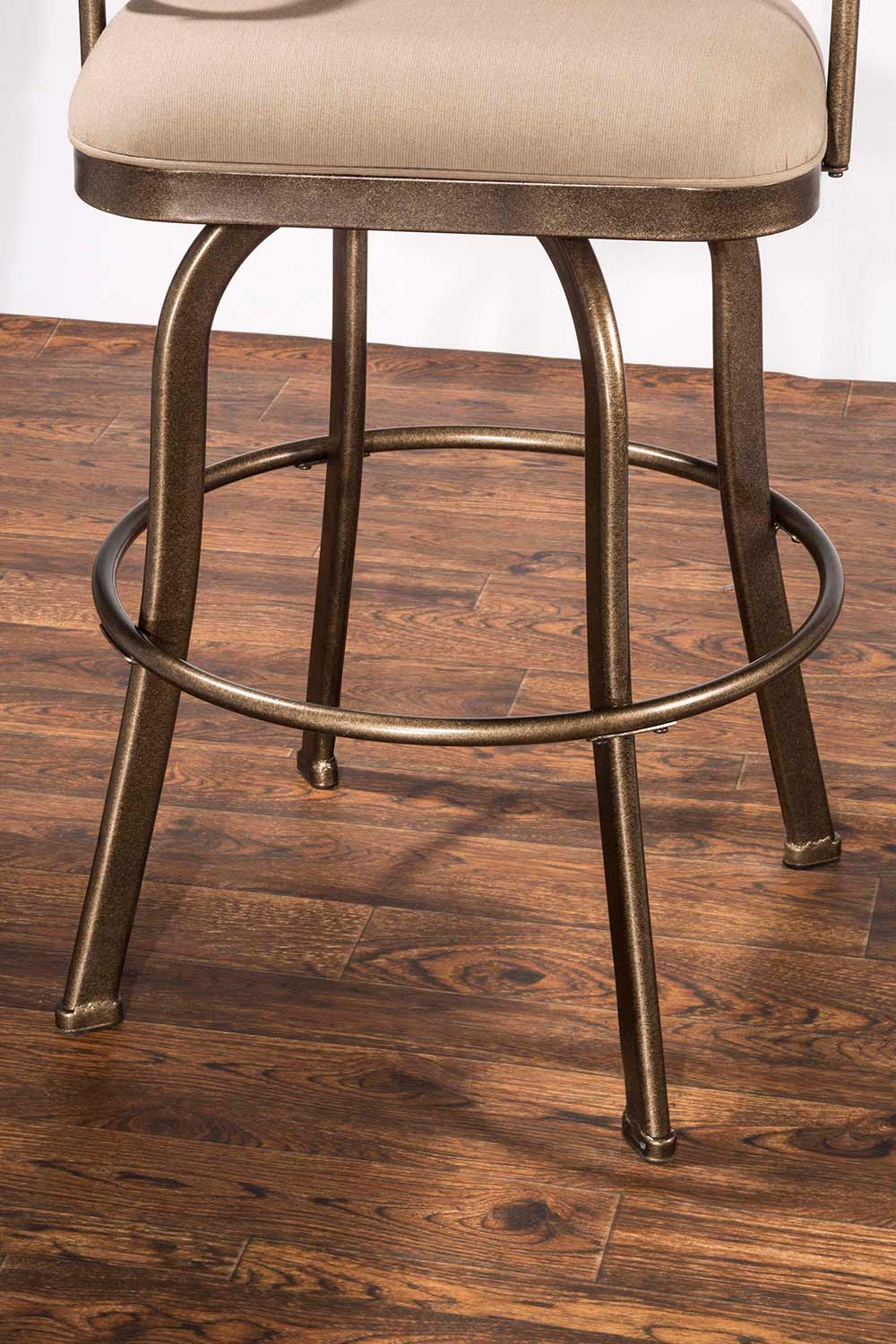 Hillsdale Delk Indoor/Outdoor Swivel Bar Stool - Gold Bronze