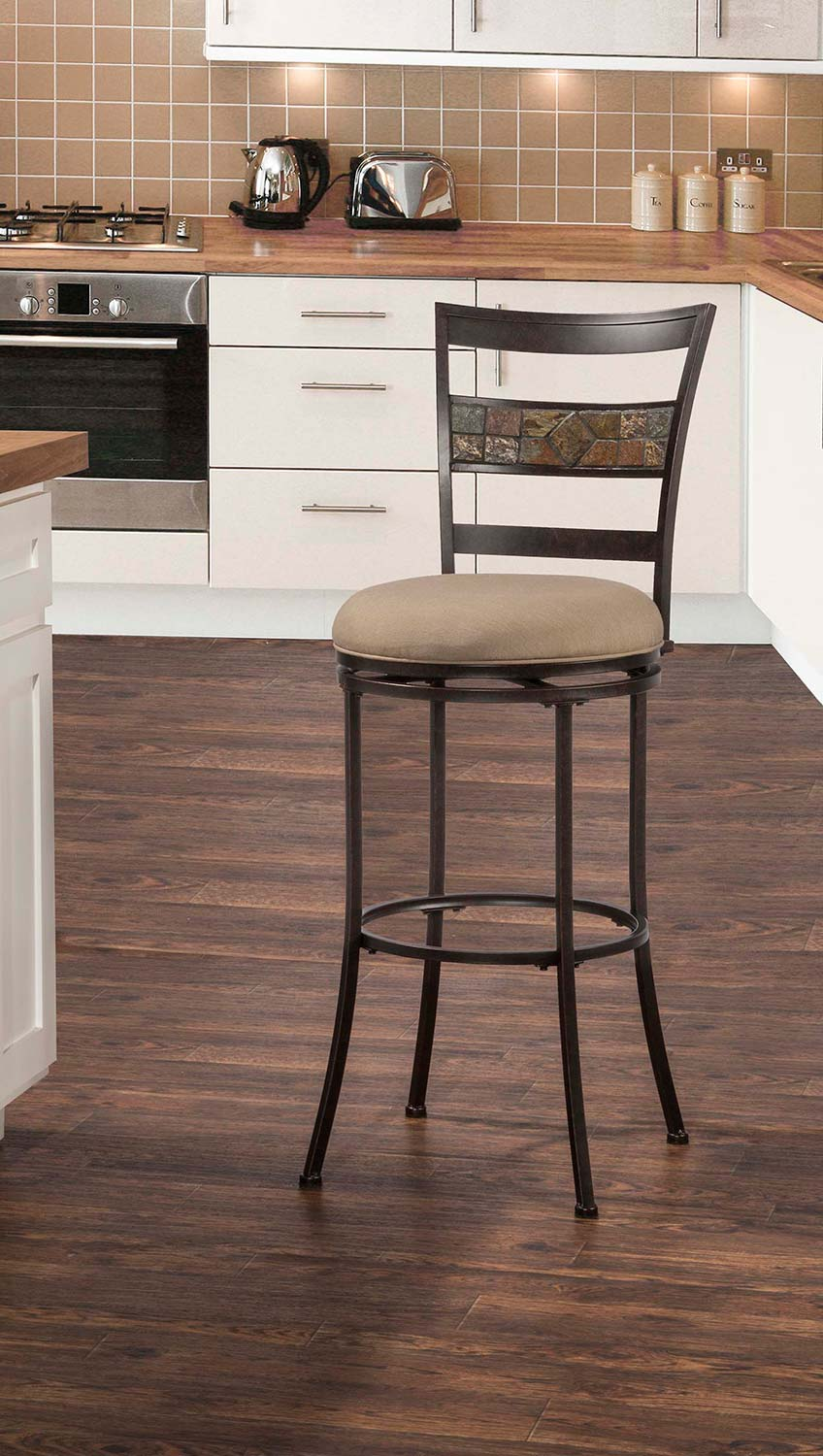 Hillsdale Henning Indoor/Outdoor Swivel Bar Stool - Midnight Mocha