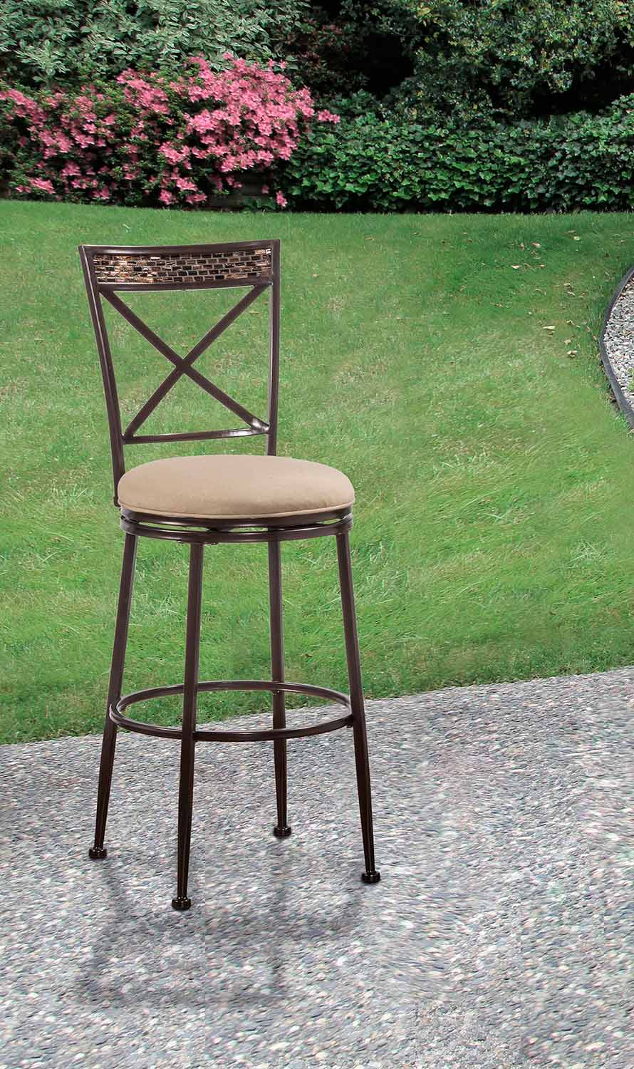 Hillsdale Pullman Indoor Outdoor Swivel Counter Stool