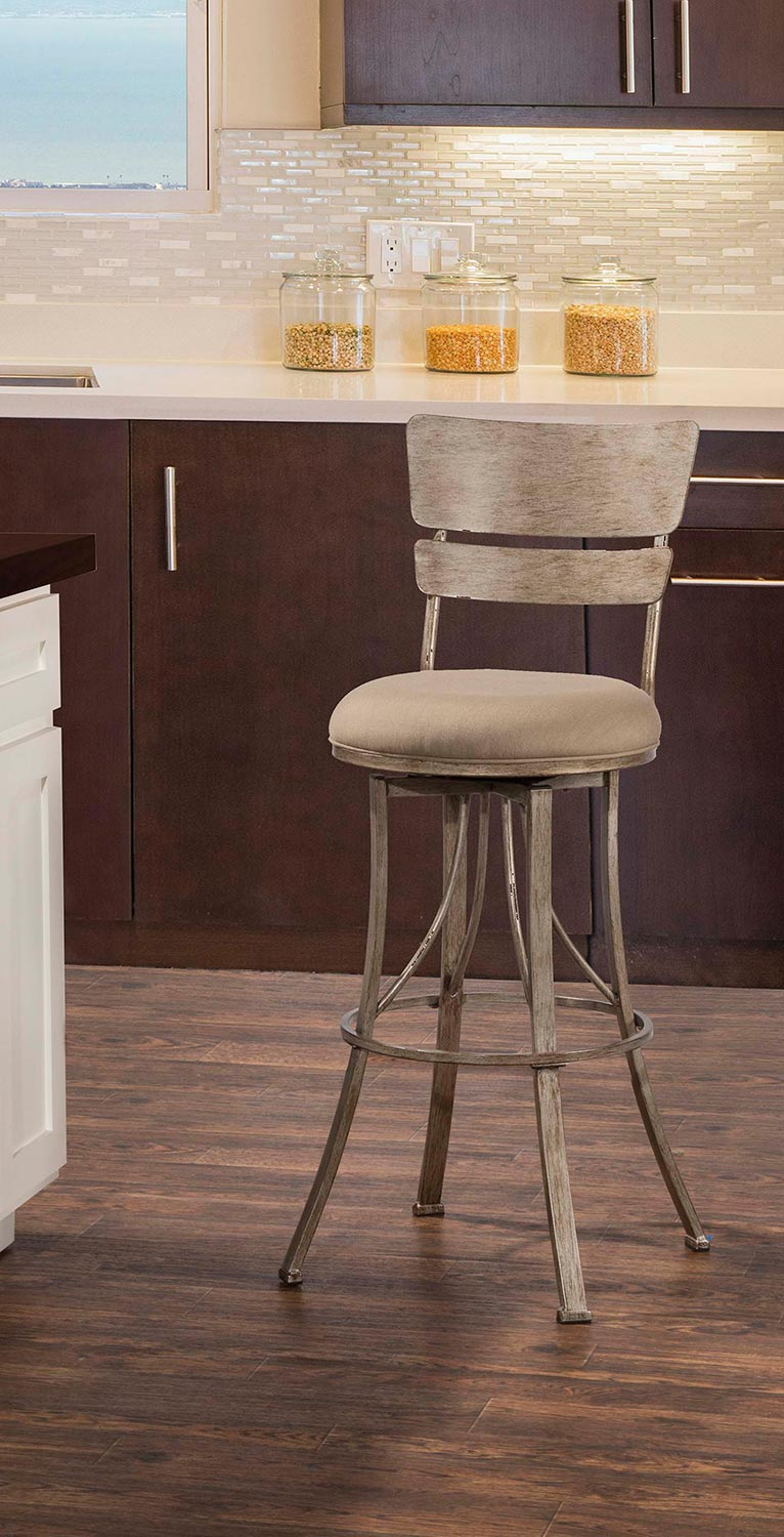 Hillsdale Wakefield Indoor/Outdoor Swivel Bar Stool - Champagne