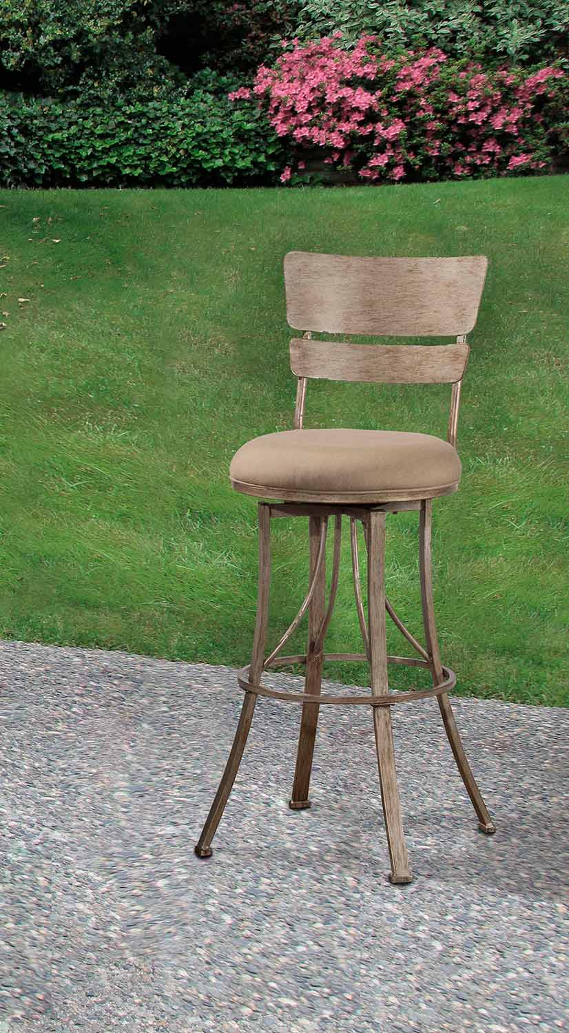 Hillsdale Wakefield Indoor Outdoor Swivel Bar Stool