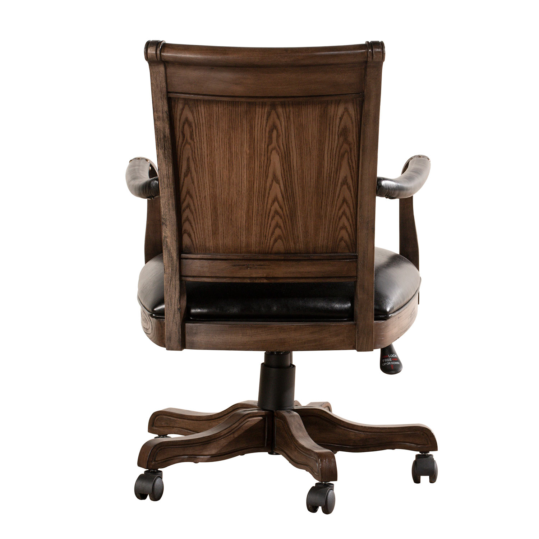 Hillsdale Kingston Freeport Wood Game/Desk Chair - Weathered Walnut