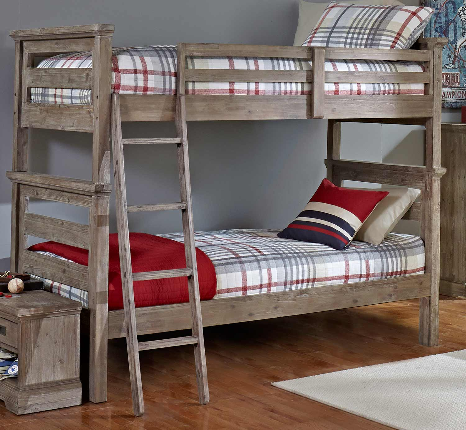 NE Kids Oxford Oliver Twin Over Twin Bunk Bed - Cocoa