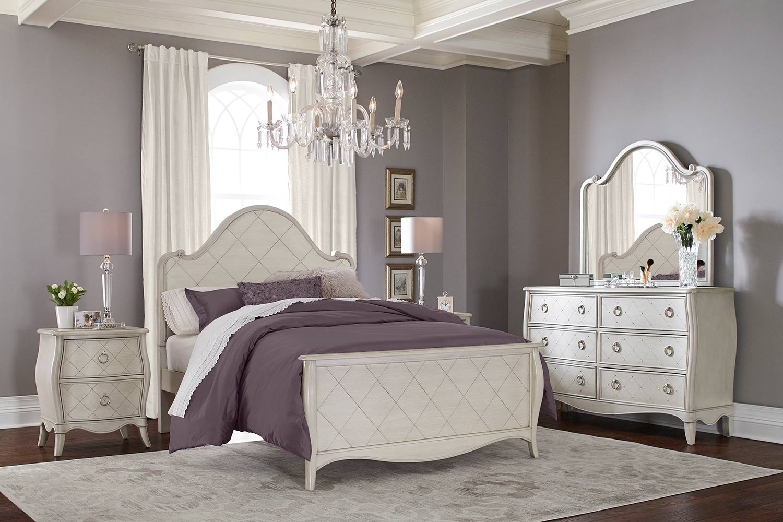 NE Kids Angela Arc Panel Bedroom Set - Opal Grey