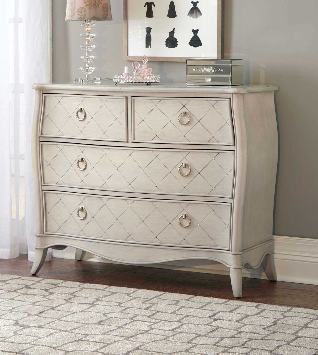 NE Kids Angela 4 Drawer Chest - Opal Grey