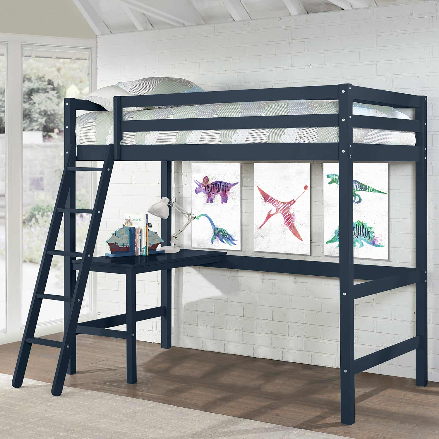 Hillsdale Caspian Twin Loft Bed - Navy