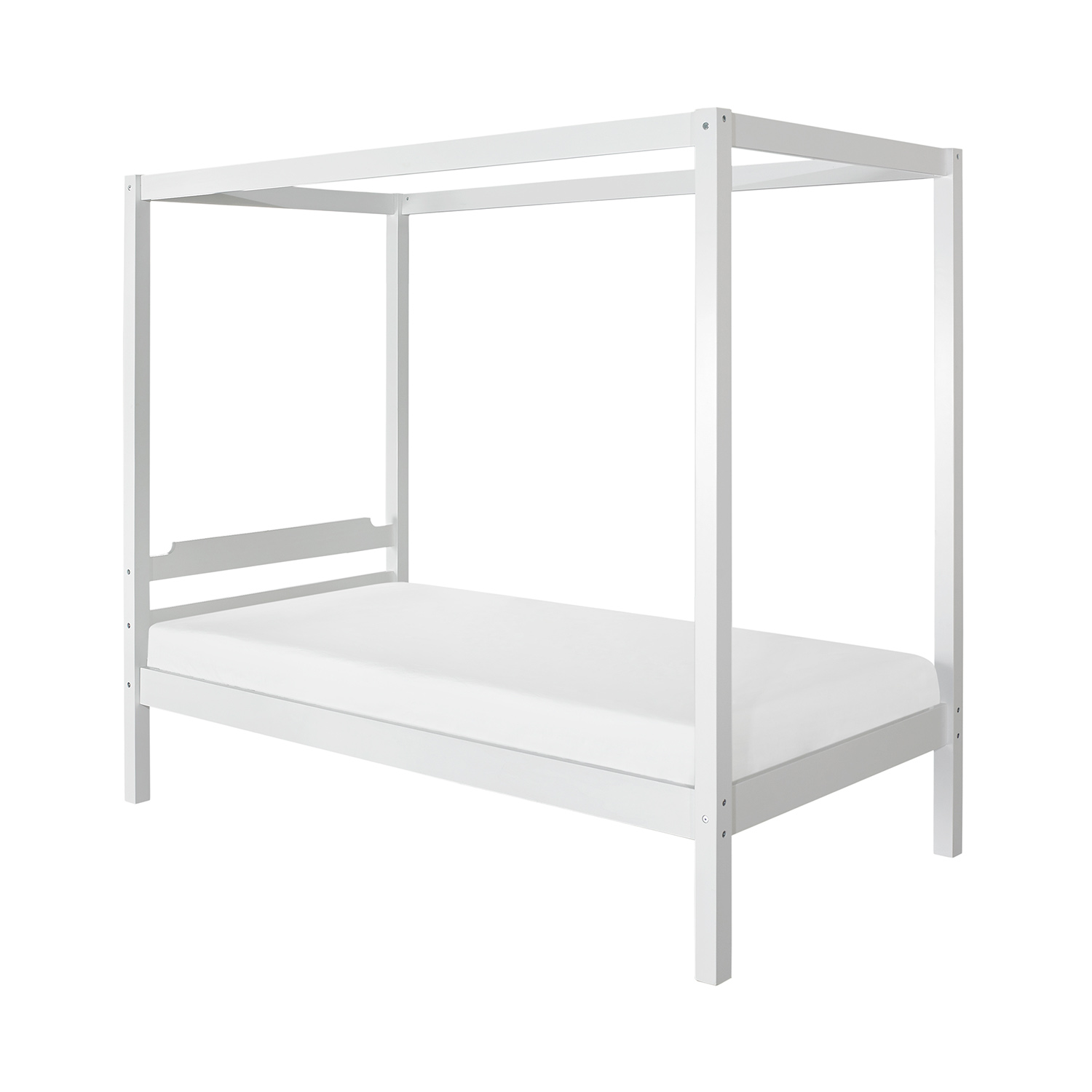 Hillsdale Sutton Wood Canopy Twin Bed - White