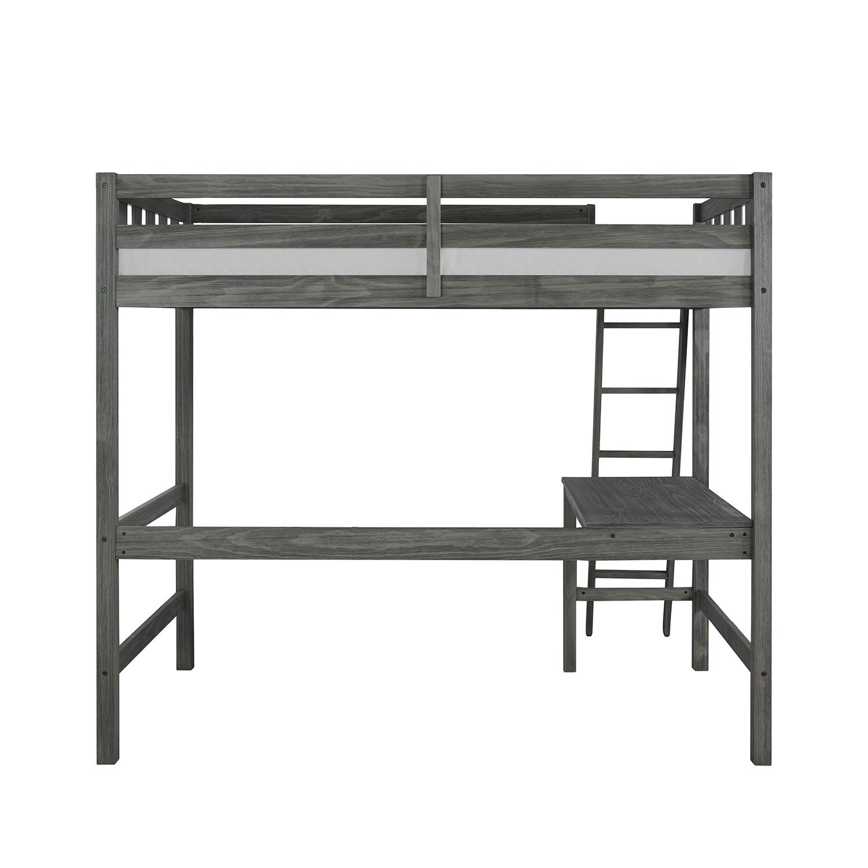 Hillsdale Crosswinds Complete Twin Loft Bed - Wirebrush Gray