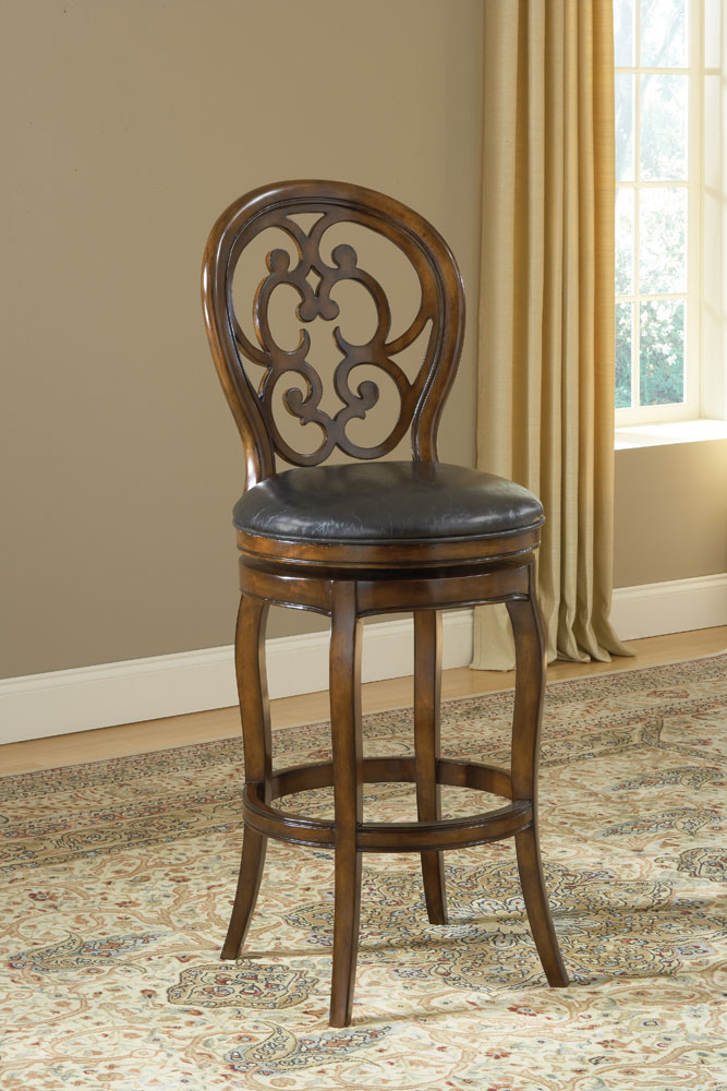 Hillsdale Alexandra Swivel Counter Stool - Dark Tobacco
