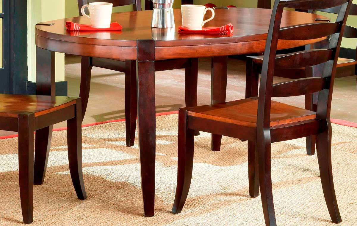 Hillsdale casa blanca wood oval dining table with leaf 4088 814e
