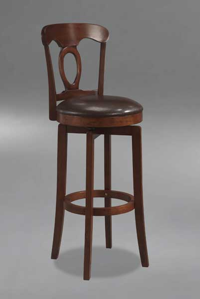 Hillsdale Corsica Swivel Bar Stool in Brown