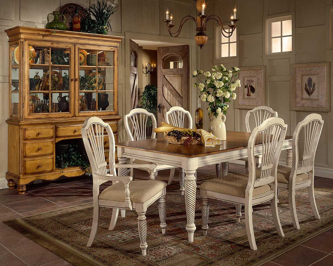 Hillsdale Wilshire Rectangular Dining Collection - Antique White
