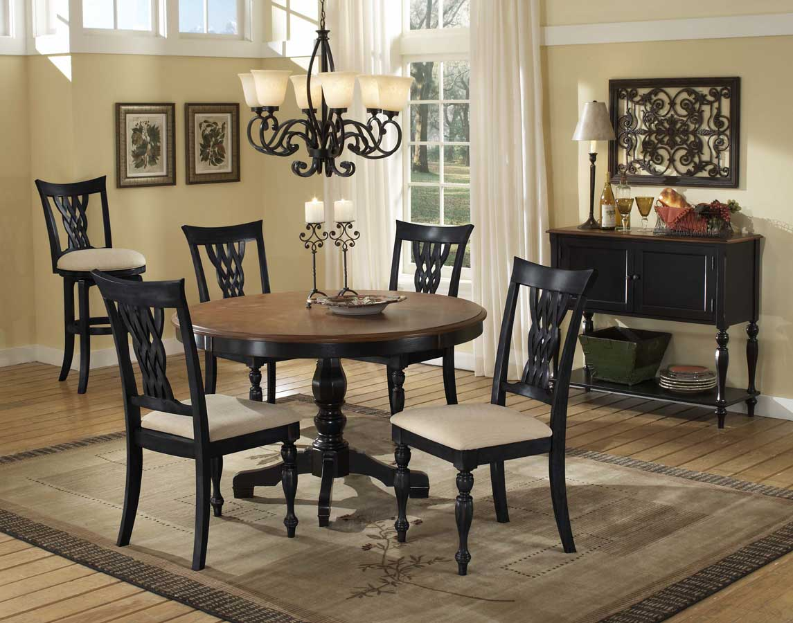 Hillsdale Embassy Round Pedestal Table with Wood Top 4808  : HD D4808W from www.hillsdalefurnituremart.com size 1145 x 900 jpeg 111kB