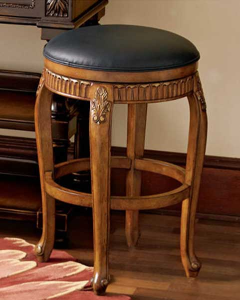 Hillsdale Backless Fleur De Lis Swivel Bar Stool 62011