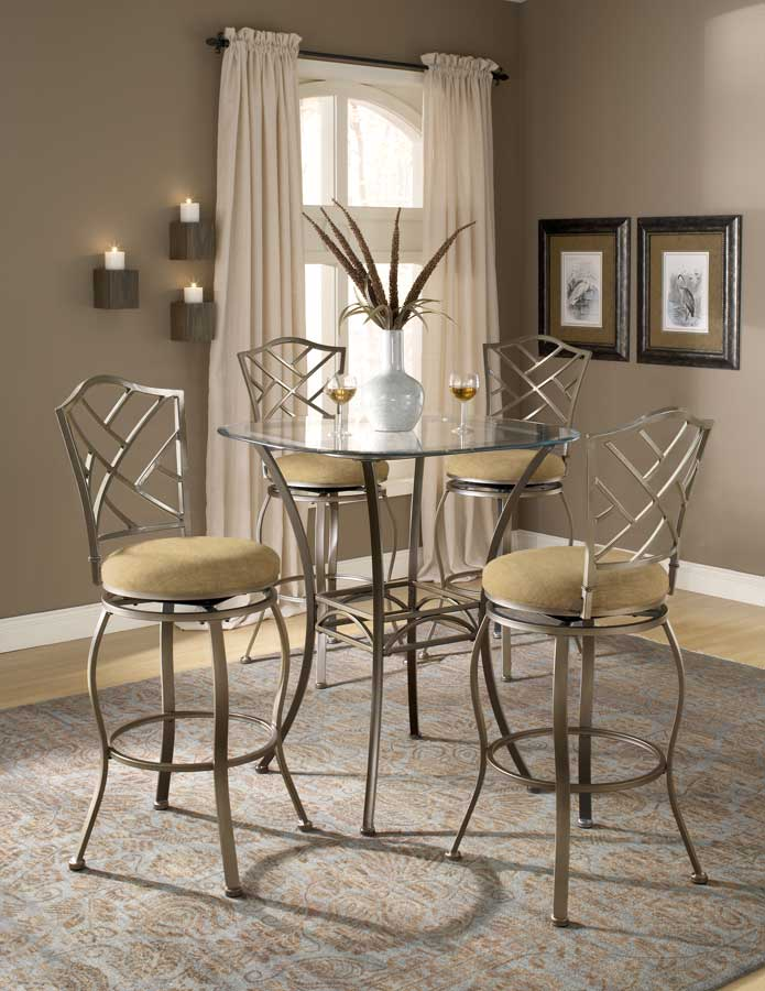 Hillsdale Brookside Bar Height Bistro Dining Collection Hanover