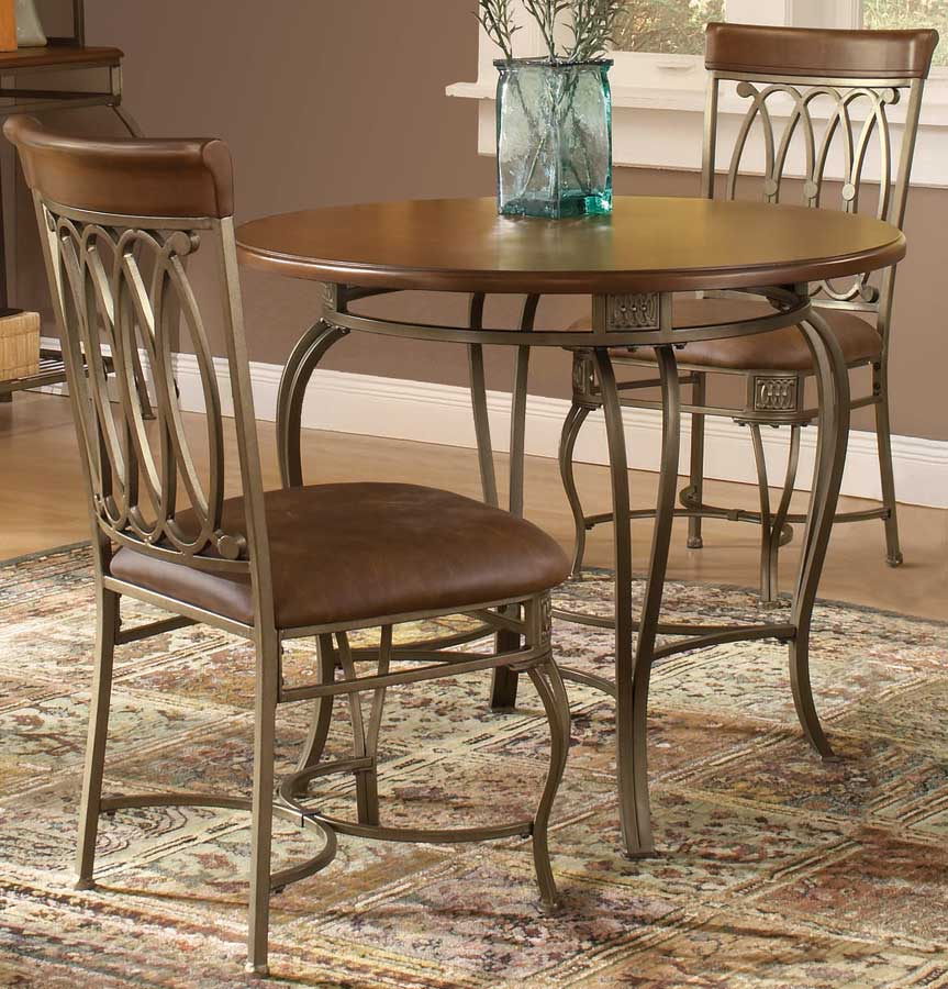 hd 41541 810 812 montello round dining table 36 inch hillsdale 36dia