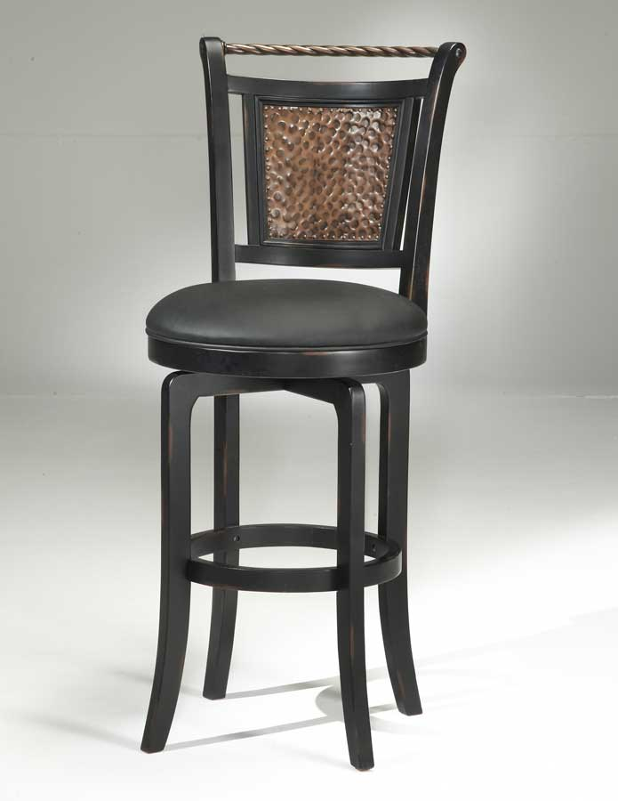 Hillsdale Norwood Copper Back Swivel Bar Stool