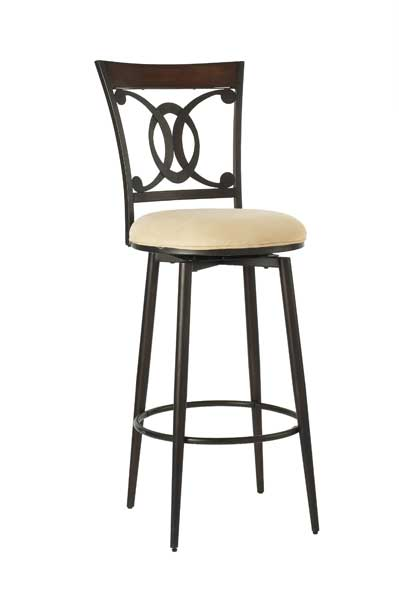 Hillsdale Northhaven Swivel Bar Stool With Faux Suede