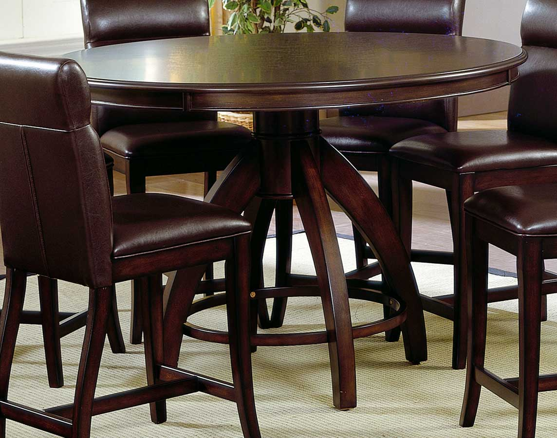 Hillsdale nottingham round counter height dining table for Tall dining table