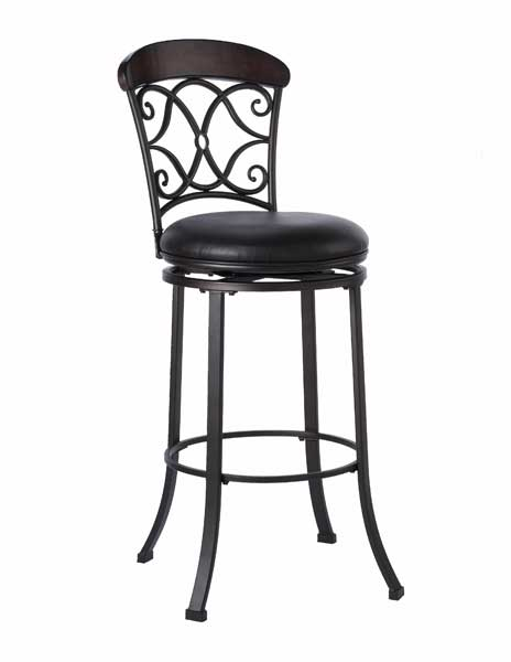 Hillsdale Trevelian Swivel Counter Stool With Brown Vinyl