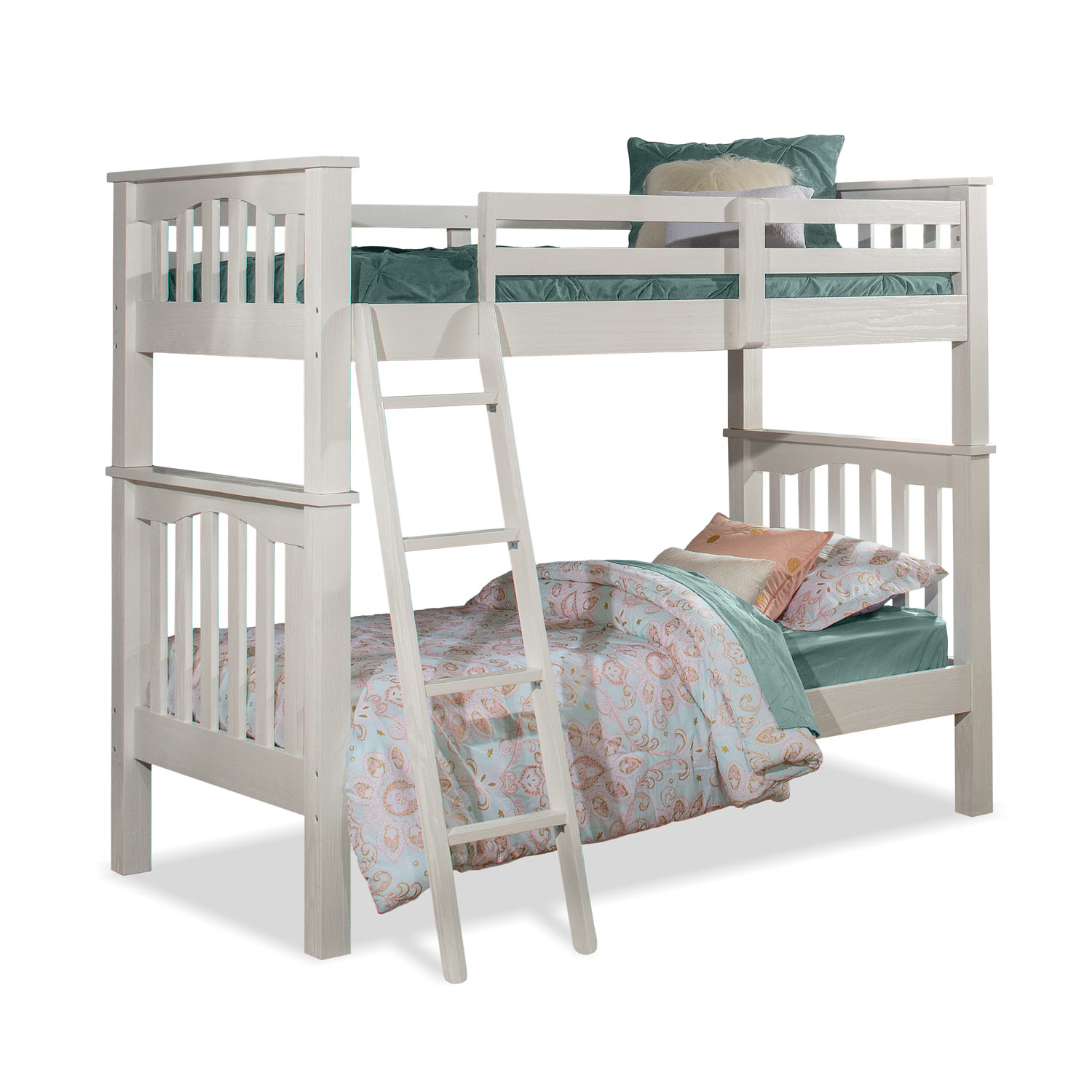 NE Kids Highlands Haper Twin/Twin Bunk Bed - White Finish