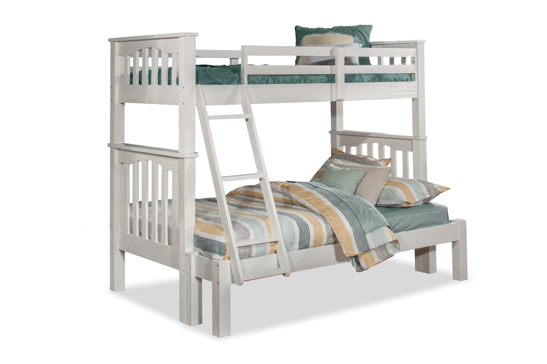 NE Kids Highlands Harper Twin/Full Bunk Bed - White Finish