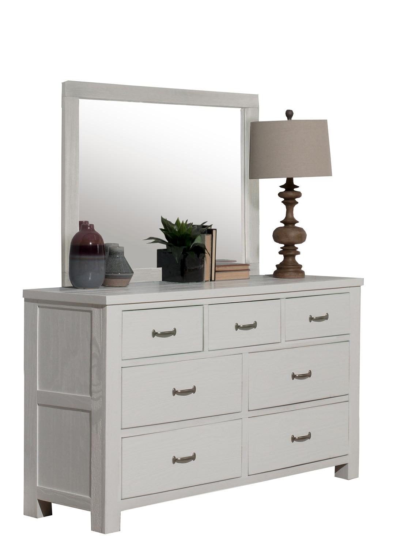 NE Kids Highlands 7 Drawer Dresser with Mirror - White Finish