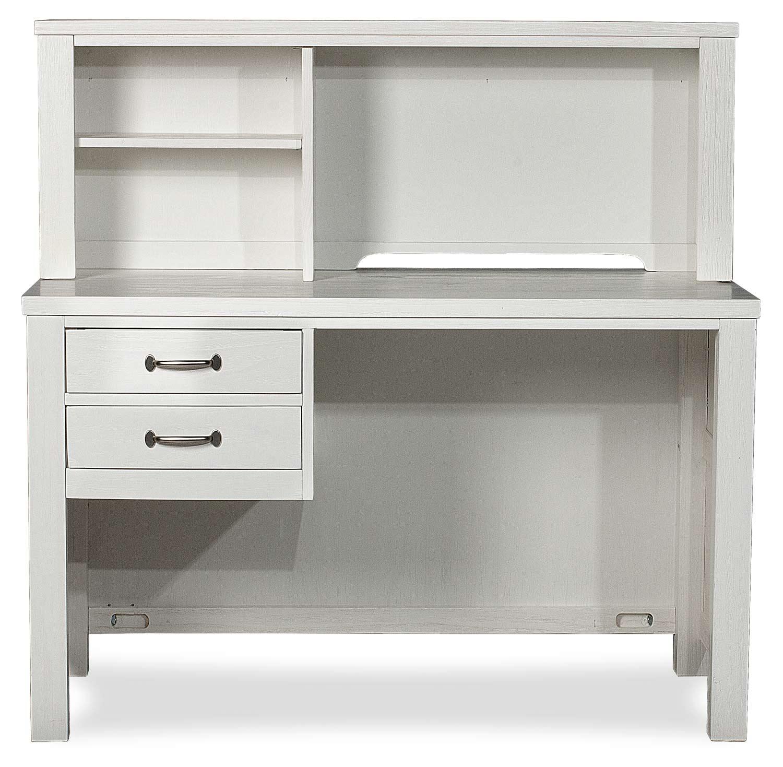 NE Kids Highlands Desk with Hutch - White Finish