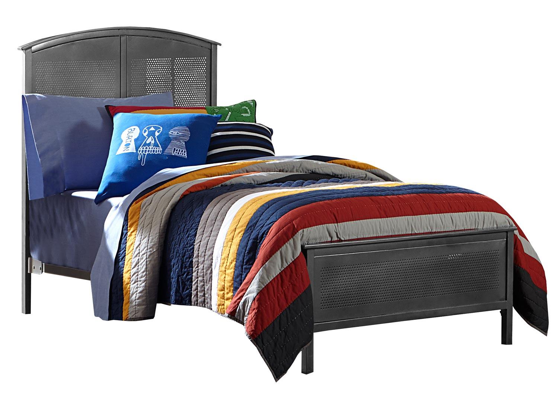 NE Kids Urban Quarters Panel Bed - Black steel