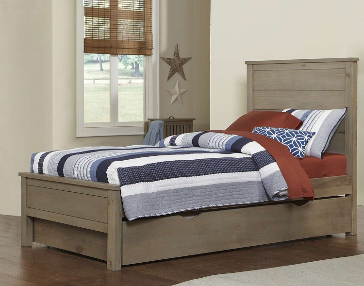 Highlands Alex Bed With Trundle - Driftwood