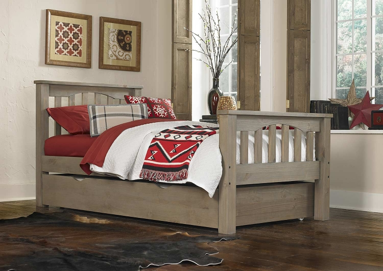 Highlands Harper Bed With Trundle - Driftwood