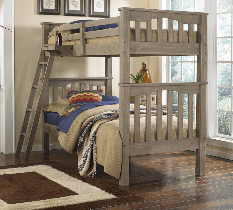 Highlands Harper Twin Over Twin Bunk - Driftwood