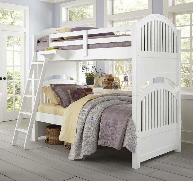Lake House Adrian Twin Over Twin Bunk - White