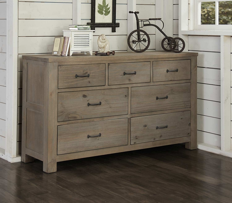 Highlands 7 Drawer Dresser - Driftwood