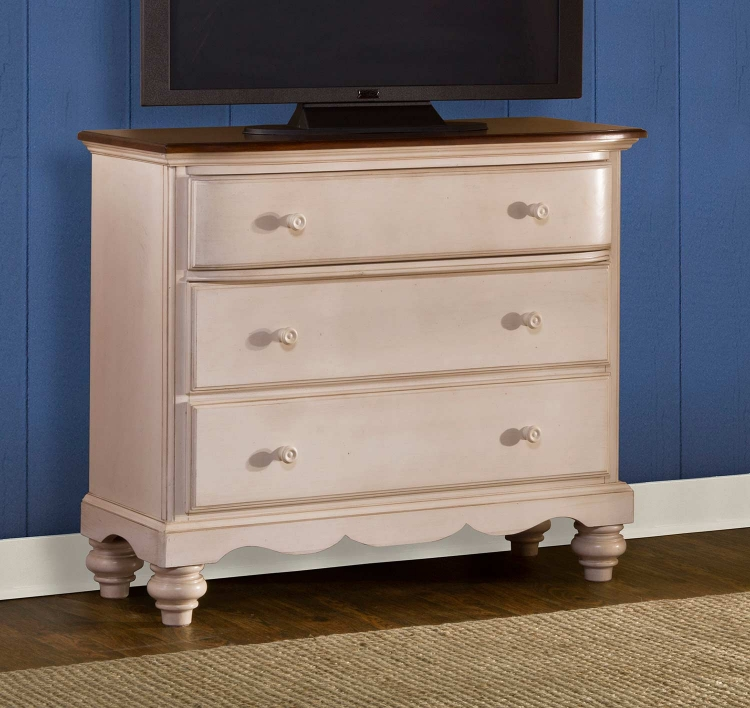 Pine Island TV Chest - Old White