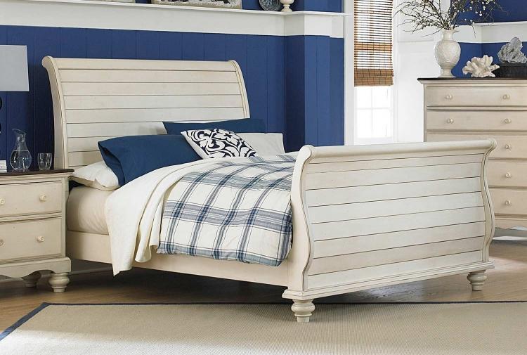 Hillsdale Wilshire Panel Storage Bed Antique White 1172stgbqr