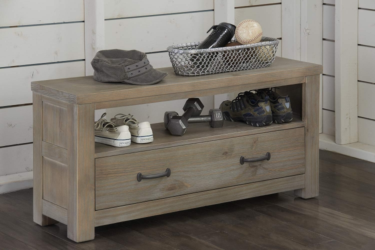Highlands Dressing Bench - Driftwood