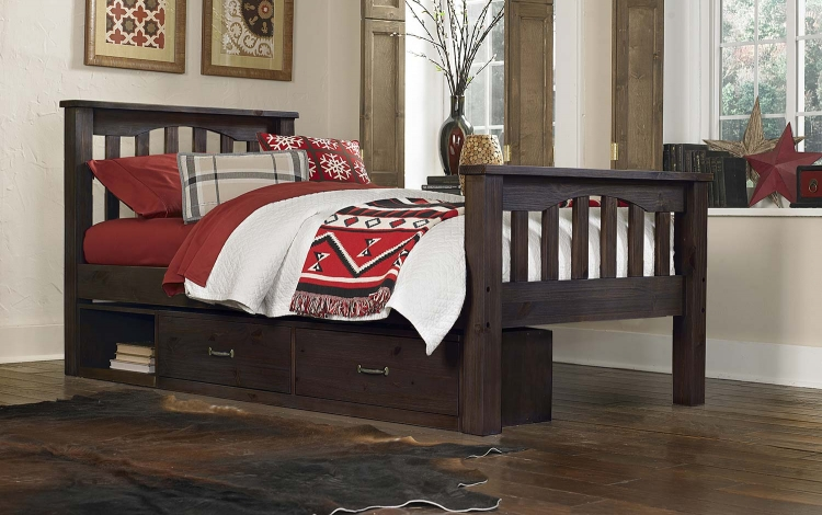 Highlands Harper Bed With Storage - Espresso