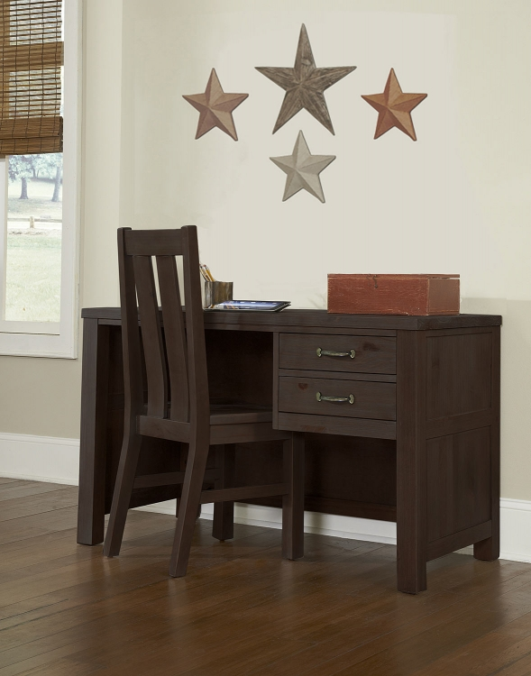 Highlands Desk with Chair - Espresso