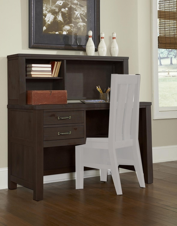 Highlands Desk with Hutch - Espresso