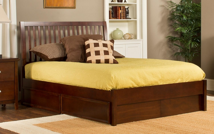 Metro Liza Storage Bed - Cherry