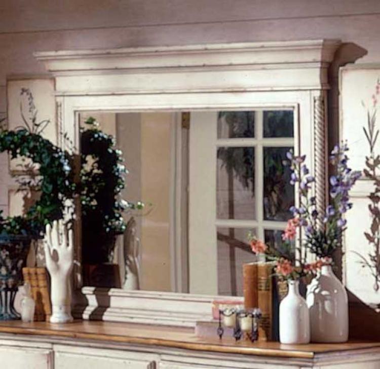 Exceptional Wilshire Mirror   Antique White