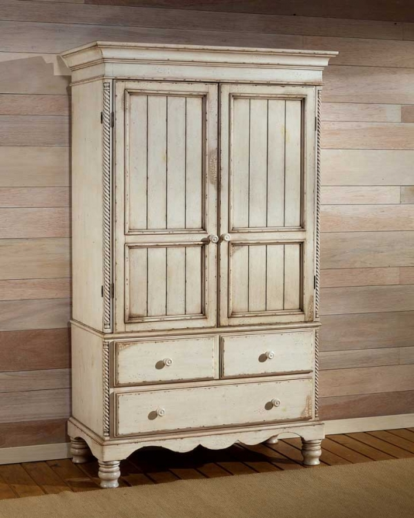 Wilshire Armoire - Antique White